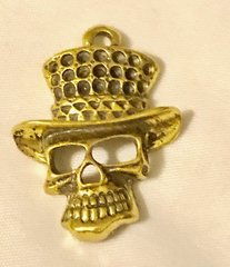 1700. Steampunk Skull with Top Hat Pendant