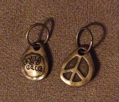 434. Bronze Peace Sign Pendant