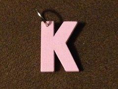 938. Wood Letter K Pendant