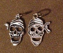 1694. Skull with Bandana Pendant