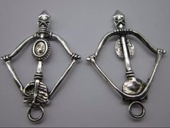 74. Large Bow and Arrow Pendant