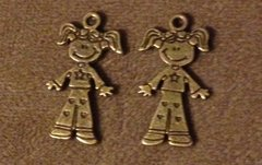 679. Bronze Girl Pendant
