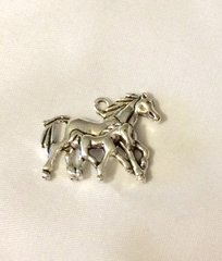 1350. Mommy and Baby Horse Pendant