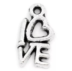 36. 'love' letters small Pendant