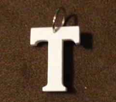 947. Wood Letter T Pendant