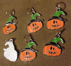 264. Enameled Pumpkin Pendant