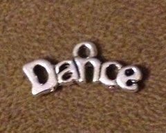 847. Dance Letters Pendant