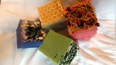 Rustic Goat's Milk Cube Soaps - choose your scent