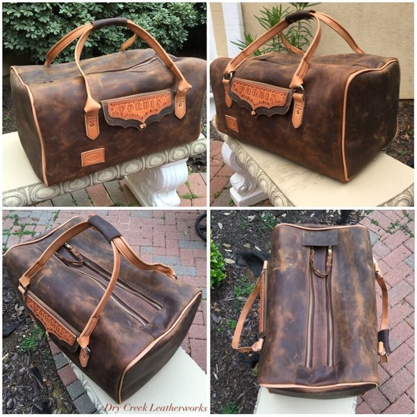 Large Leather Weekender Bag | Dry Creek Leatherworks