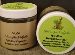 Spirulina Capsules - Organic Remedy with a powerful supply of vitamins and more