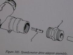 M35 2 1/2 TON SPEEDOMETER SHAFT 7065894 NOS