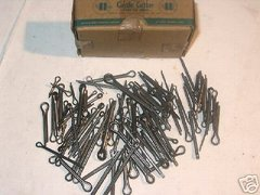 "1 BOX OF 100 ASSORTED STEEL COTTER PINS 1/16"" THROUGH 1/2"" NEW"
