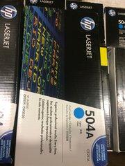HP LASERJET 504A PRINTER CARTRIDGE CE251A CYAN NEW