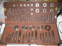 VARIETY 83 PC TAP AND DIE SET WITH CARRYING CASE GOOD CONDITION