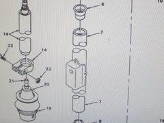 M561 GAMA GOAT STEERING COLUMN TUBE 11601585 NOS