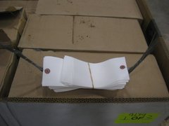 "200 WHITE SHIPPING TAGS WITH WIRE ENDS 6.25"" X 3.125"" NOS"