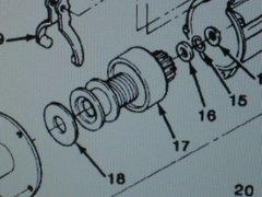M1008 M1009 ENGINE STARTER DRIVE 1893445 NOS
