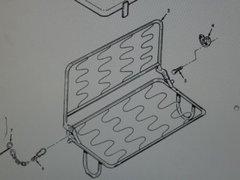 M151 JEEP REAR SEAT FRAME 11598984 NOS