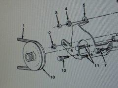 M1008 M1009 POWER STEERING PUMP BELT 14050455-2 NOS
