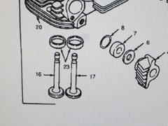 1 MEP-002A 5 KW MEP-003A 10 KW ENGINE INTAKE VALVE 110-1871 NOS