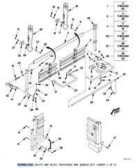 M1078 CENTER SUPPORT SEAT 12418547-001 NOS