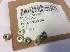 20 NUTS MS35649-262, 5310-00-934-9747 NOS