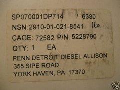 DETROIT DIESEL FUEL INJECTOR N90P, 71 SERIES 5228790