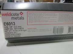 "BOX WELDCOTE METALS WELDING ELECTRODE 1/8"" E6013 NEW"