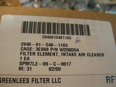 M998 DONALDSON, GREENLEES AM GENERAL AIR INTAKE FILTER 12342870, P521242 NOS