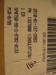 M977 VEHICULAR L.H ROOF INSULATION 1337000 NOS