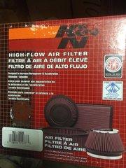 K&N AIR FILTER RU-2800, 2945-01-333-3035 NOS
