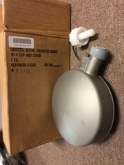 MILITARY ISSUED STEEL, CORROSION RESISTANT, INSULATED CANTEEN MIL-C-40124 NOS