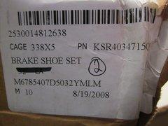 MRAP MAXXPRO BRAKE SHOE SET KSR4034715QP, 2530-01-481-2638 NOS