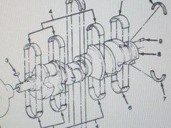M1008 M1009 ENGINE CRANKSHAFT 14024236 14024271 5740034 NOS