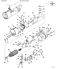 M1078 ENGINE STARTER M0017703MD, 2920-01-364-1598 NOS