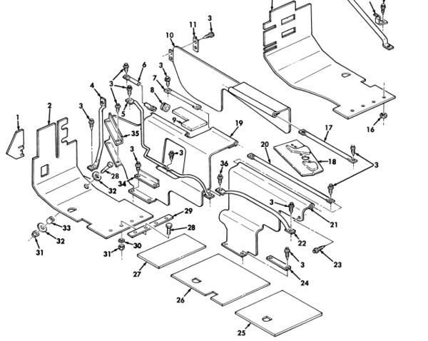 M998 L H  Rear Insulation Panel 12339039 Nos