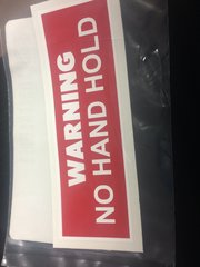 """M998 """"NO HAND HOLD"""" DECAL 12340814, 7690-01-204-7785 NOS"""