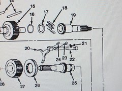 M1008 M1009 MODEL 205 TRANSFER SHAFT 14022221 NOS