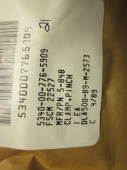 1 PINCH CLAMP 5-848, 5340-000-776-5909 NOS