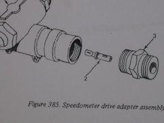 M35 2 1/2 TON SPEEDOMETER SHAFT 976179R1 NOS