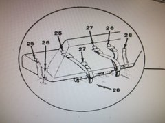 M1009 REAR BENCH SEAT BELT 14075374 NOS