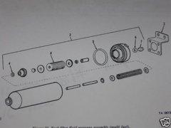 M35 2-1/2 TON SERIES FUEL FILTER GASKET SET 5702624 NOS