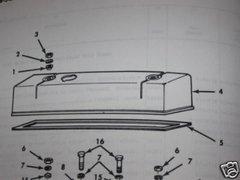 M151 ENGINE VALVE COVER 8754179 NOS