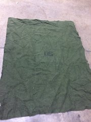 "MILITARY ISSUED FIRE RETARDANT WOOL BLANKET 62"" X 80"" NOS"