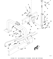 M1078 HYDRAULIC HOSE ASSEMBLY 12417262-002 NOS