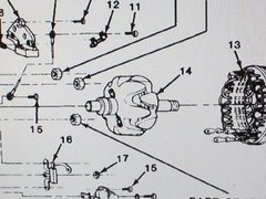 M1008 M1009 ALTERNATOR ROTOR 1978875 NOS