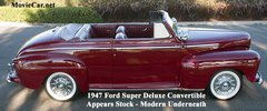 1947 Ford Super Deluxe Convertible - The Perfect Balance of Classic Style coupled with Modern Convenience