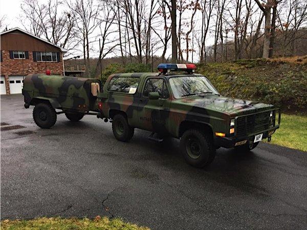 Military Surplus Auction >> 1983 Chevrolet CUCV / K5 Blazer -- Military Police -- Authentic Vehicle | Hollywood Movie Car ...