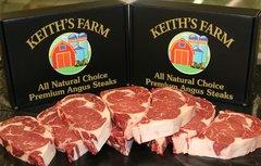 Keith's Farm All Natural Premium Angus Steaks (6) 16 oz.