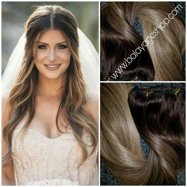 2822 wedding goddess hair extension clip in set balayage 2822 wedding goddess hair extension clip in set pmusecretfo Image collections